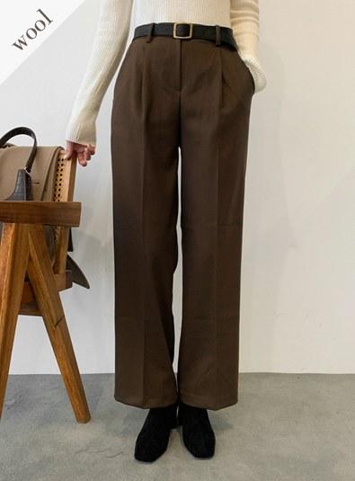 Wool wool 50-Moide pants (* 4color)