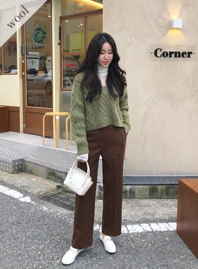 Wool wool 20 Crop Ender knit (* 4color)