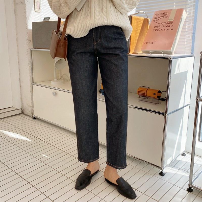stitch jean pants s