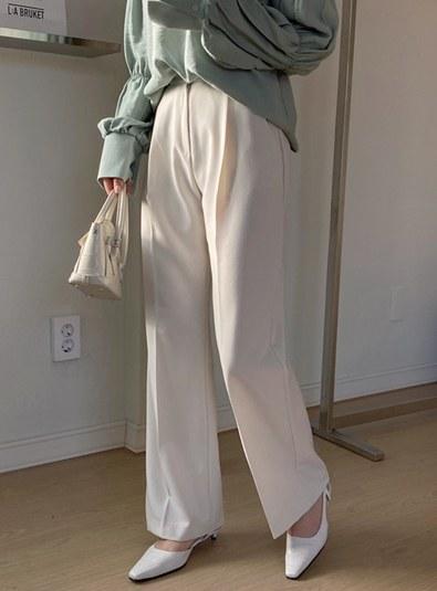 Pin Tuck Long Slacks pants (* 3color)