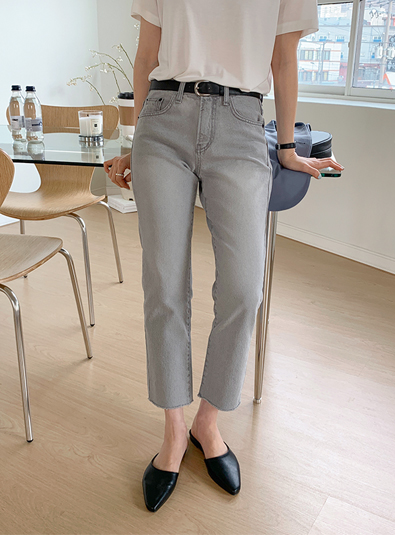 Light gray straight pants