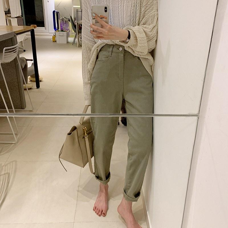 Cotton Straight pants (* 2color)