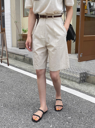 Cotton Slack Harp pants (*2color)