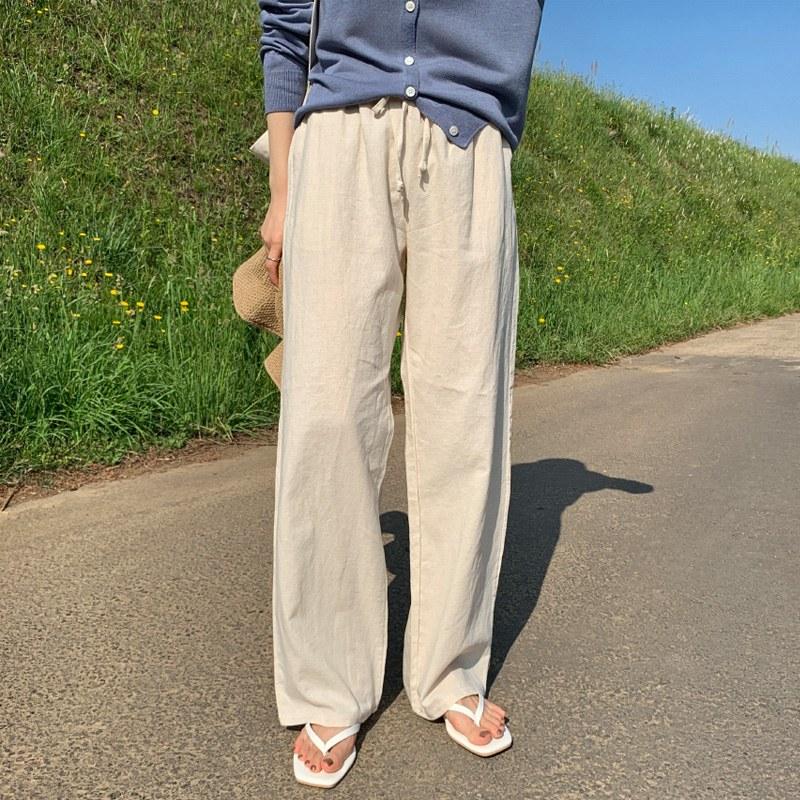 [Cuan cue] banding linen pants (*3color)