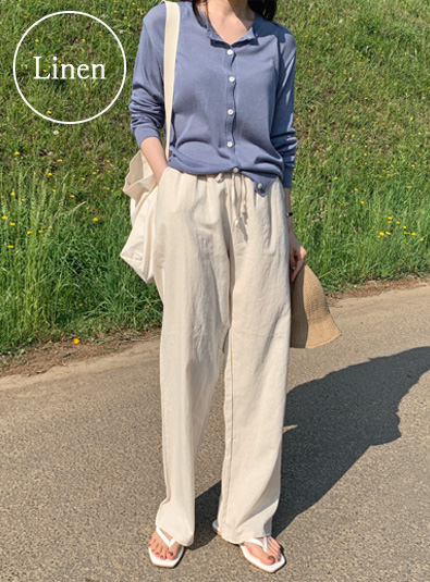 [Cuan cue] banding linen pants (*3color)