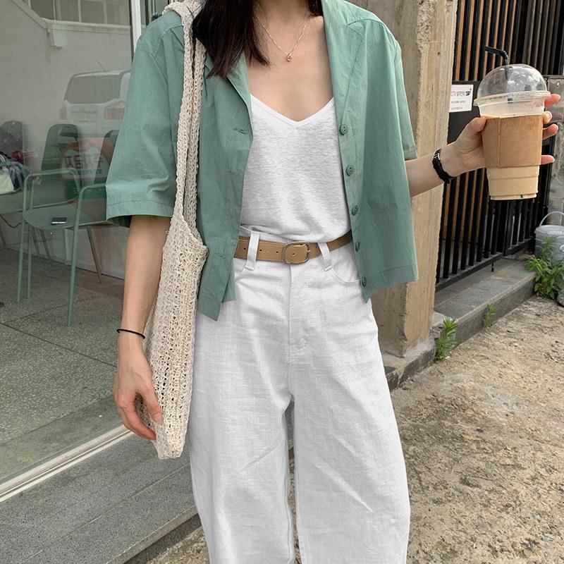 Mood Short Shirt bl (*2color)