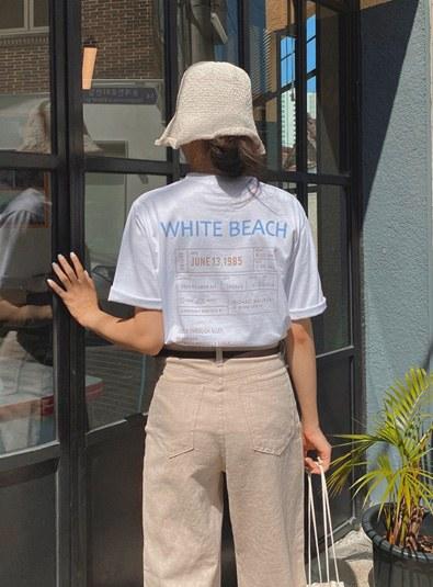 White beach t (*3color)