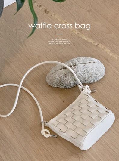 Waffle Cross bag (*2color)