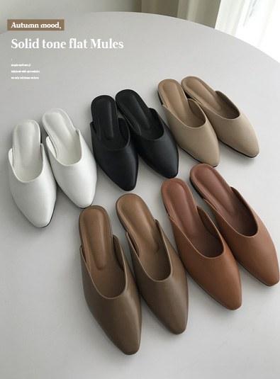 Rend Mule shoes (*5color)