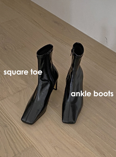 Square nose ankle shoes (*2color)