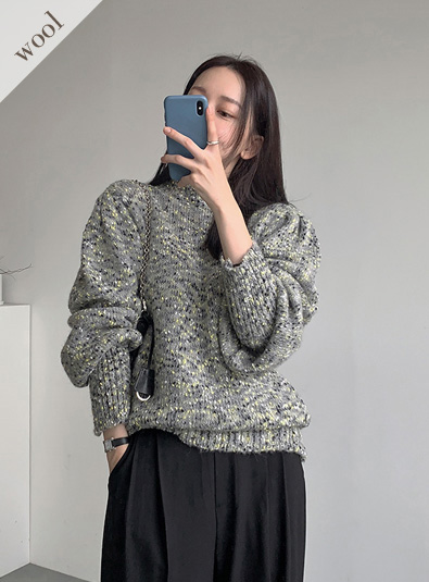 Puff foam knit (*3color)